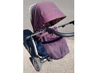 Mamas & Papas Sola in Truffle with Raincover REDUCED TO CLEAR