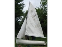 SOLD - Otter Sailing Dinghy trailer and launch trolley, Do-a-Up-a or parts :(