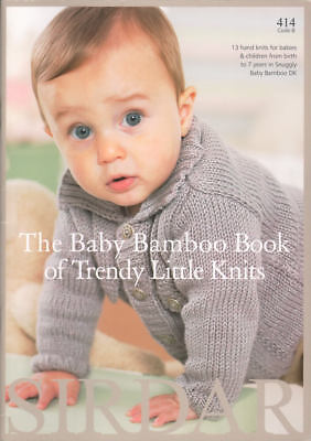 Trendy Little Knits Knitting Patterns Sirdar 414 Snuggly Baby Bamboo DK 0-7 yrs