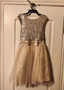 Champagne colored girl's dress.
