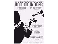 A night of magic and hypnosis @ The Water Rats. Kings Cross. WC1 8BZ. 29/9/17 open 19:00.