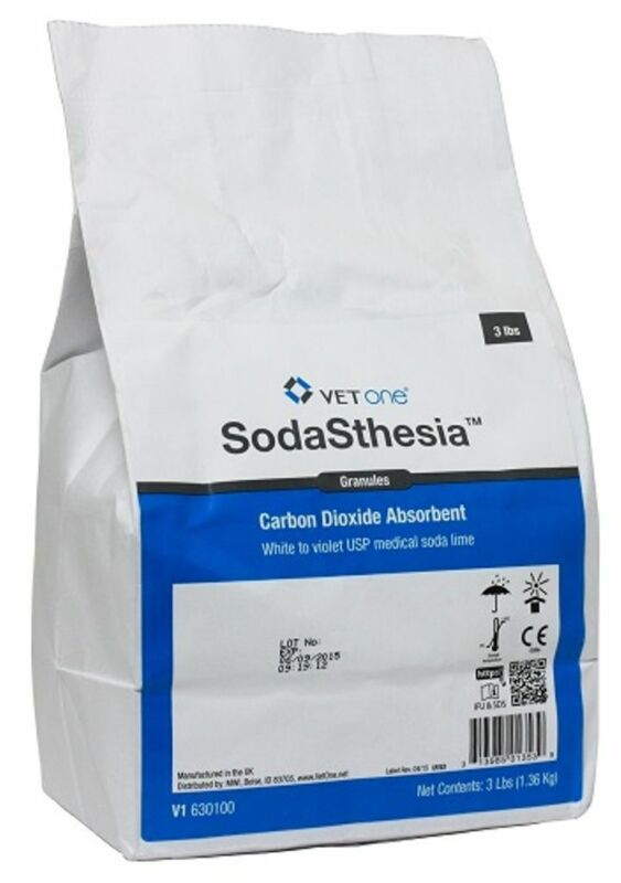 Vet Supply Soda Lime 3 Pound Bag Granulated Re-breathing Circuit Vet