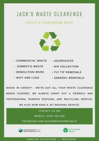 JACKS WASTE CLEARANCE ALL ASPECTS OF RUBBISH REMOVED 7 DAYS A WEEK THE CHEAPEST AND MOST RELIABLE !!