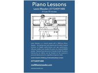 Piano Lessons | Lewis Meaden | £12/30mins