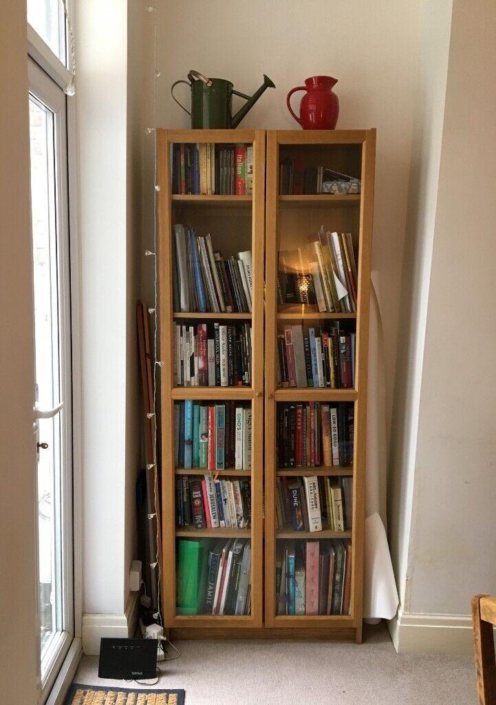 Solid Wooden Bookshelf With Glass Doors In Penny Lane Merseyside Gumtree
