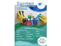 Sanitell Cleaning Services Limited, we offer domestic and commercial cleaning services.
