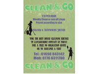 Clean & Go are a reliable & trustworthy domestic cleaning services based in Lanarkshire