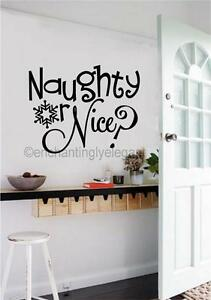 Naughty-Or-Nice-Christmas-Decor-Vinyl-Decal-Wall-Sticker-Words-Lettering-Art
