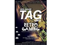 TAG meets RETRO GAMING - Adult only indoor play!