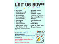 LET US BUY YOUR OLD VIDEO GAMES!!