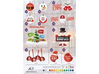 Christmas SALE Vinyl Graphics, Signs, designs and Stickers for Shop Front