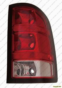 Tail Lamp Passenger Side 1500 Series Base Model Dark Red Trim Small 921 Back-Up Bulb High Quality GMC Sierra 2010-2011