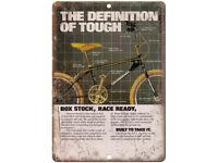 "1986 Kuwahara BMX Vintage Ad 10/"" x 7/"" Reproduction Metal Sign B483"