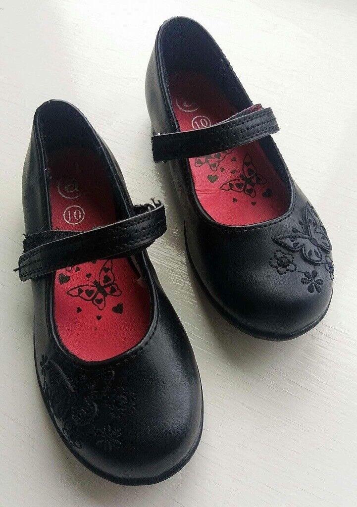 Girls Black school shoes new size 10
