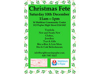 Christmas Fete 10th December 11am - 1pm Poplar E14