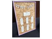 Wedding/Party Table Seating Plan Display Notice Board Frame Photo Picture