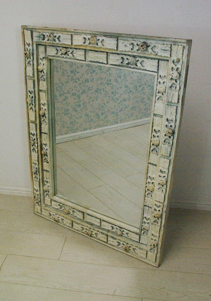 Full handcrafted wooden framed beautiful Afghan antique mirror