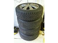 """16"""" 5 Stud BMW Dunlop Winter/ Snow wheels with tyres"""