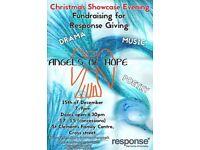 Christmas Showcase evening fundraising for Response giving.