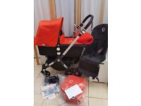 Immaculate bugaboo cameleon 3 . Black & Orange. LOTSOF EXTRAS!