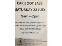 CAR BOOT SALE 22nd JULY - £5 per car entry