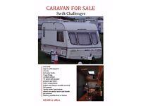Swift Challenger 2-berth caravan for sale
