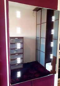 MIRROR WITH BUILT IN LED LIGHTS