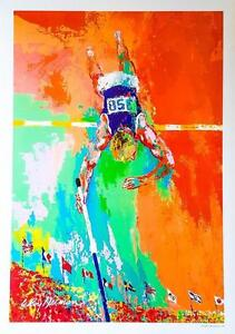 Vintage Museum Quality Prints (Lithographs) By Leroy Neiman - The Olympic Pole Vaulter