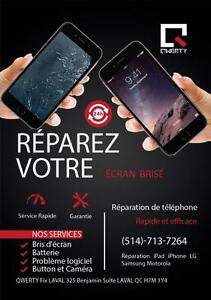 Réparation IPAD AIR, IPAD MINI Remplacement Vitre tactiles QWERTY FIx Laval