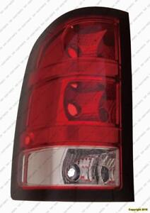 Tail Light Driver Side 1500 Series Base Model Dark Red Trim Small 921 Back-Up Bulb High Quality GMC Sierra 2010-2011