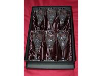 Royal Doulton. 6 Crystal Wine Glasses, in Presentation Box