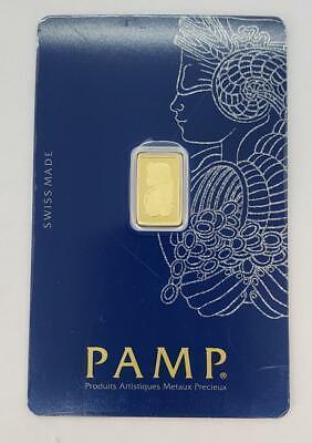 Pamp 1 Gram .9999 Gold Bar Sealed .0321AGW L10382 - $73.00