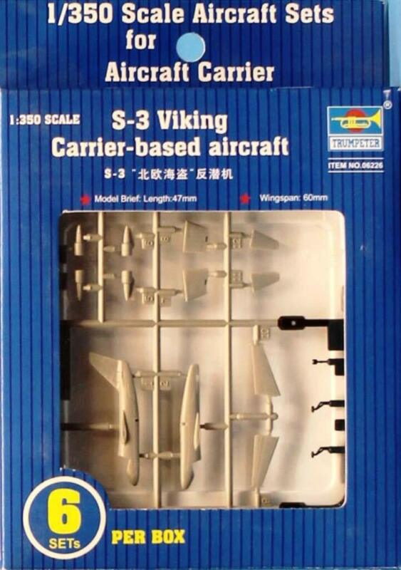 Trumpeter 1:350 S-3 Viking Carrier Based Aircraft 6pcs per Box Detail Set #06226