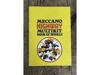 Vintage Meccano Highway Construction Set DIY Multikit Model Book - Manual / Stickers