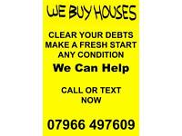 We buy unloved houses, land, anything considered