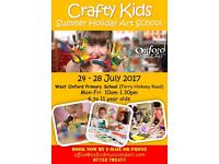 """Summer Holiday Art School """"Crafty Kids"""" 24-28th July @ West Oxford Primary School ages 6-11"""