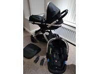 Mothercare Journey Travel System, Black/Chrome - Pram / Puchchair