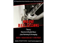   DISCOUNTS   Electric and double bass / theory / Jazz harmony / arranging lessons - First hour FREE