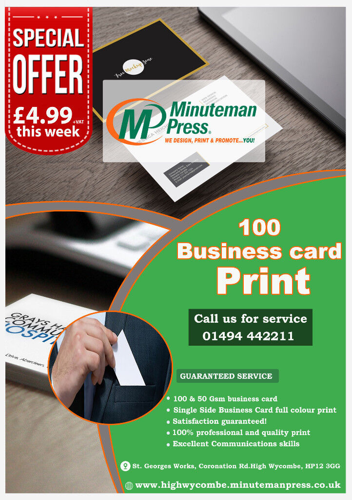 Enjoy this special offer 100 printed business card only 5 in enjoy this special offer 100 printed business card only 5 high wycombe reheart Image collections