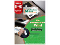 Enjoy This Special Offer- 100 Printed Business Card Only £5