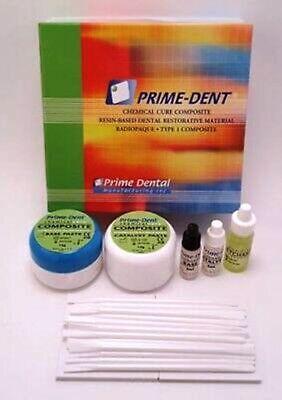 Prime Dent Chemical Self Cure Composite Kit 15gm15gm Bonding Super Fast Ship
