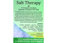 Salt Therapy/Salt room treatments (helping you to breathe free/freely)