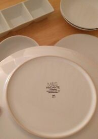 6 pieces of Andante M&S dinner set