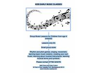 KIDS EARLY MUSIC CLASSES - PRE INSTRUMENTAL LESSONS