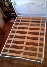 Double Bed - White Painted Pine - with mattress if wanted