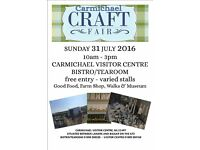 Tables available for Craft Fair 31-7-16. Carmichael Visitor Centre
