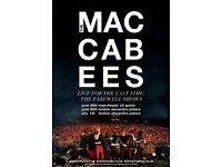 4x The Maccabees standing tickets, Manchester Apollo, Wednesday 28th June 2017
