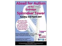 Abseil the Emirates Spinnaker Tower for Autism Hampshire - Sunday 2nd April 2017