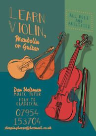Violin / Mandolin lessons in folk or classical!