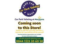 Hand Car Wash at Morrisons Franchises available UK wide